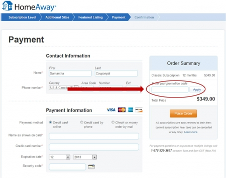 Homeaway coupon code