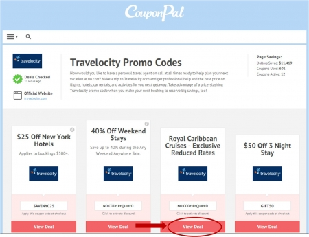 Get the latest Travelocity promo codes, coupons, and offers to help you see the world for less. Use these deals when you book your hotels, flights, rental cars, vacation packages and more!