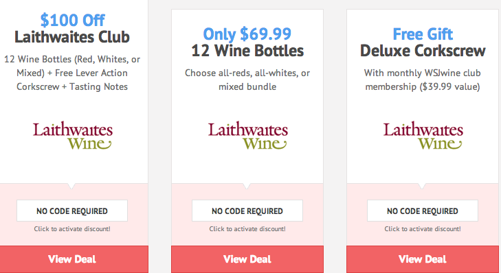 Wines at Laithwaites Wine are handpicked from vineyard regions throughout the world, including Champagne, Napa Valley, Chile, Australia, and more. Every selection is backed by Laithwaites' % satisfaction guarantee, and you can buy with even more confidence with Laithwaites Wine coupons.