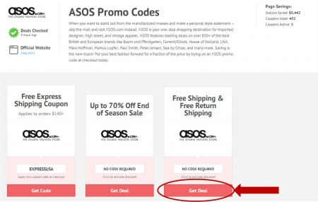 Asos coupon code 2018