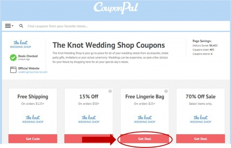 The knot shop coupon code