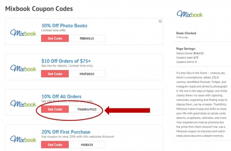 Mixbook coupon codes