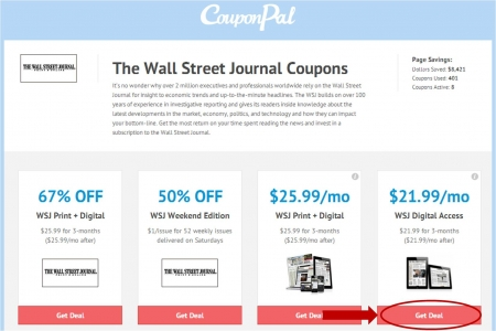 The Wall Street Journal's website, tiospecicin.gq, offers special deals for both print and online subscribers, such as four weeks free with a home delivery subscription. The electronic version of the newspaper, tiospecicin.gq, offers free online trials .