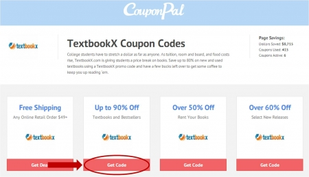 Textbookx coupon codes by couponpal valid july 2018 step 2 copy the textbookx coupon code fandeluxe Images