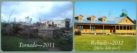 Before and after tornado