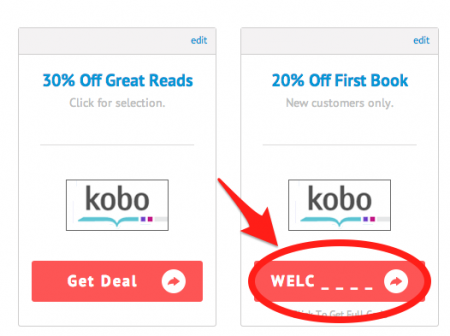 Kobo coupon codes by couponpal valid march 2018 at couponpal find a kobo promo that you like and click get deal or click on the part of the kobo coupon code that is visible fandeluxe Image collections