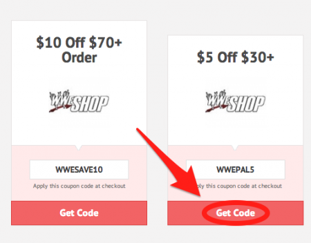 Wwe coupon codes