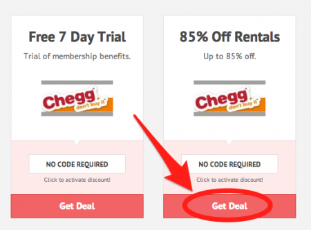 Coupons from Chegg - December Free Shipping on orders over $ Get a special coupon on textbook orders with this Chegg coupon! Always check here for coupons or discount codes first! Click the button below and your Chegg coupon code will be applied when you checkout! Apply Coupon.