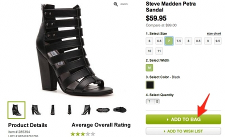 Step 4: Enter DSW Coupon Code