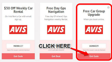 Avis coupons rental momma