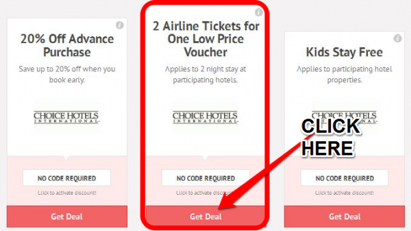 Step 2 Click On The Choice Hotels Coupon Code