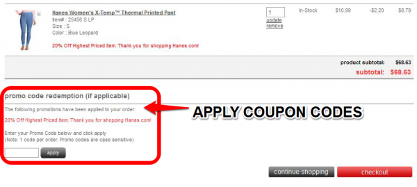 Hanes discount coupons