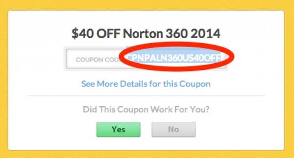 Norton coupon code