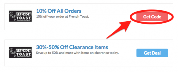 French charmed coupon code