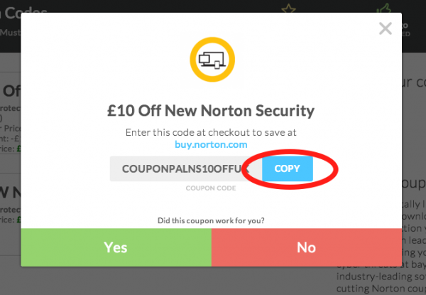 Coupon code for norton